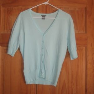 Womens Ann Taylor Mint Green Button Up Sweater